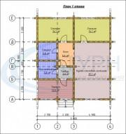 Проект Северный рай - План 1 этажа